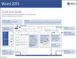 Microsoft Word Study Guide Template Office 2013 Quick Start Guides Office Support
