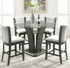 dining chairs for glass table kangas 5 piece round counter height dining set dining set glass table