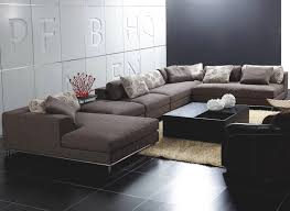 unique sofa sectionals modern with justine modern fabric sectional