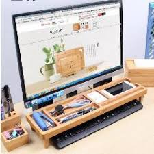 Keyboard Management Arm Wooden Storage Rack Desktop