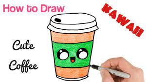 In 365 sketches i'll teach you step by step drawing lesso. How To Draw Coffee Drink Cute And Easy Food Drawing Food Drawing Easy Cute Food Drawings