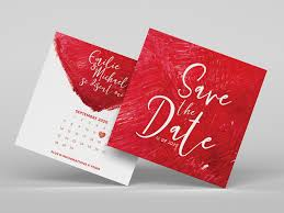 Red Save The Date Cards Save The Date By Michael On Dribbble