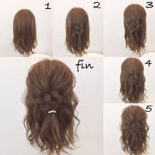 毎日の簡単レシピセミロングのヘアアレンジは抜け感と女らしさで作る
