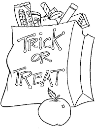 colouring in picture. Interesting Picture Or Treat Bag Inside Colouring In Picture R