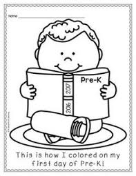 Small Picture First Day of Preschool Coloring Pages Back to School Pinterest