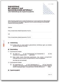 Vereinbarung — eine vereinbarung ist eine bindende verabredung. Ehevertrag De Vertrag Download