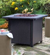 wicker propane gas fire pit wicker fire pit k70