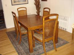 vintage dining room chairs. Dining Room : A Vintage 1950 Set With Wooden Square Table And Chairs In Small Patterned Carpet Painting Perfect