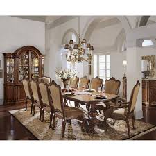 dining room furniture denver colorado. steve silver gabrielle 9 piece dining table set - medium walnut   hayneedle room furniture denver colorado r