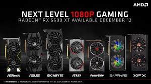 Nvidia Video Card Comparison Chart Amd Launches The Rx 5500xt Graphics Card At Us 169 For 4 Gb
