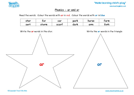 These phonics worksheets are simple and ideal for beginners. Phonics Ar And Or Words Tmk Education