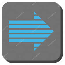 Arrow Of Light Stripe Colors Stripe Arrow Right Rounded Square Vector Icon Stock Vector