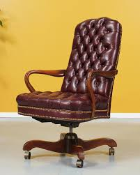 burdy leather chesterfield office chair by vintagesupplyla