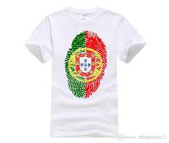 diy print t shirt screen printing portugal flag fingerprint t shirt men casual large size t shirt cotton t shirts funky t shirts from zhangxinye11