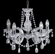 marie therese chrome 5 light chandelier with crystal drops 399 5