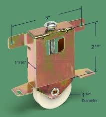 dimensions for 23 233 sliding closet mirror door rollers