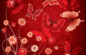 Wallpaper butterfly, flowers, abstract ...