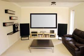 Living Room Design Minimalist Modern Living Room Theater With Big Flat Tv Unit And