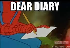 Memes Vault Spiderman Meme Dear Diary via Relatably.com