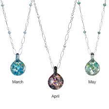 glass birthstone necklace