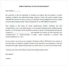 Sample Business Partnership Proposal Letter How To Write A