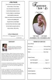 Memorial Pamphlet Template Forever With Us Sweet Inspection Pinterest Funeral Memorial