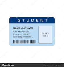 student id card place for photo stock vector