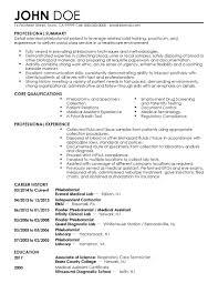 Phlebotomysume Includes Skills Experience Educational Templates