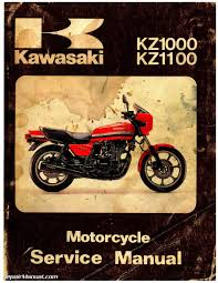 1981 1982 kawasaki kz1000 kz1100 motorcycle repair service manual kawasaki kz1000 kz1100 service manual page 1