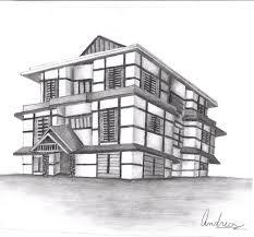 perspective drawings of buildings. Drawn Bulding Perspective - Pencil And In Color . Drawings Of Buildings C