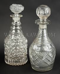 glass decanters cut glass 19th century sold separately