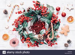 Weihnachten Winter Kranz Zuckerstangen Christbaumschmuck