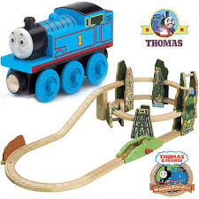 exciting high sd race down the rails thomas the train wooden railway spiral mountain playset toy