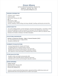 Sample Resume Educational Qualification New Sample Resume Format For