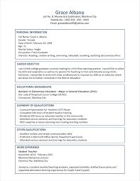 Sample Resume Educational Qualification New Sample Resume Format For