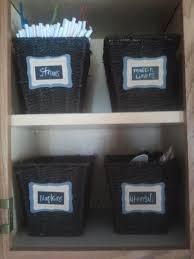 organization inspiration kitchen cabinet basket labels
