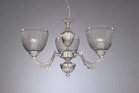 Kronleuchter Aus Messing Und Eisen Geblasenes Geräuchert Glas