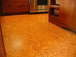 Cork Floor In Kitchen Kitchen With Wooden Cabinets And Cork Flooring Pros And Cons Of