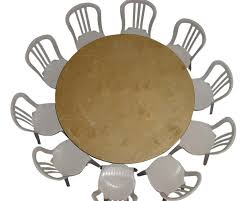 60 inch round table seats 8 full sit down dinner and 10 buffet style seating