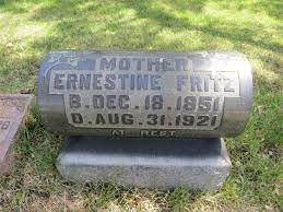 Ernestine Fritz (1851-1921) - Find A Grave Memorial