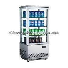 glass door display refrigerator four sides glass door display refrigerator showcase beverage drink cooler beer chiller