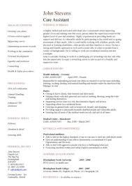 personal care worker resume. care assistant cv template ...