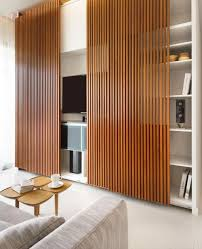 slatted doors. Sliding Slat Doors - Idea To Hide The Tv Slatted