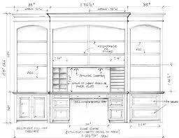 custom built desks home office. shop drawing for custom builtins bookcases desk file drawers etc built desks home office 0