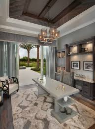 luxurious gray home office idea