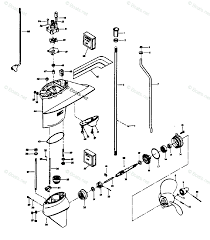 Mercury chrysler outboard parts by hp model 45hp oem parts diagram for gear housing boats