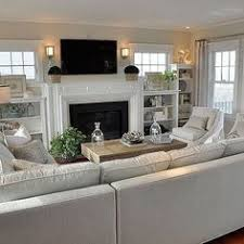 casual living room. Living Room Ideas. With Built-in And Great Furniture Layout. Family Casual