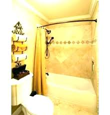 bronze curved tension shower rod curtain dual s double delta venetian b