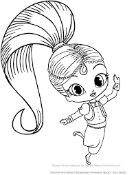 Shimmer And Shine Coloring Pages For Print Out Jokingartcom