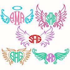 wings angel cuttable frames